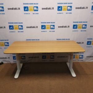 Ikea Bekant Elektra Reguliuojamas Stalas Su Ąžuolo Stalviršiu 160x80cm, Švedija