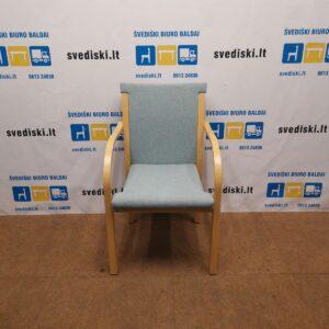 Garsnas Ąžuolo Kėdė Su Elektrinės Spalvos Audiniu, Švedija