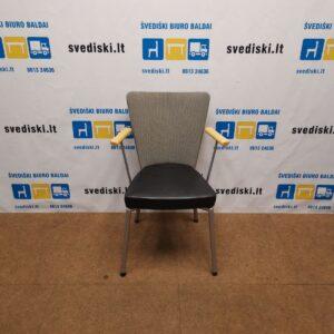 Scandiform Kėdė Su Aukšta Nugaros Atrama Ir Natūralios Odas Sėdima Dalimi, Švedija