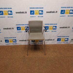Garsnas Kėdė Su Pilka Natūralia Oda, Švedija