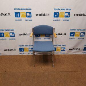 Johonsson Form Mėlyna Kėdė Su Porankiais, Švedija
