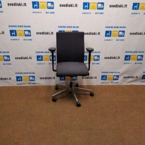 Interstuhl Tamsiai Pilka Biuro Kėdė Su 4 D Porankiais, Vokietija